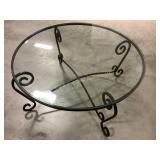 Metal Frame Glass Top Coffee Table