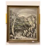 Framed Original Oil On Canvas