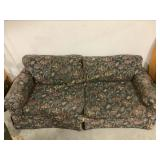Large floral pattern couch