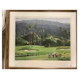 Artist Signed Framed Golf Print