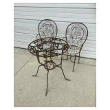 Set of metal patio furniture