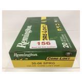 Remington 30-06 SPRG 150gr Ammo qty 20