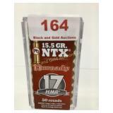 Hornady 17HMR 15.5gr NXT ammo qty 50