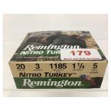 "Remington 20GA 3"" 1 1/4oz 5shot ammo qty 10"
