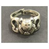 Sterling Silver 925 Cat Ring