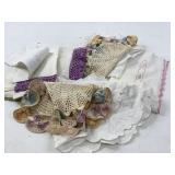 Handmade crocheted Dollies & handkerchiefs