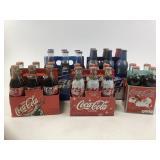Vintage Pepsi & Coca Cola bottles in case