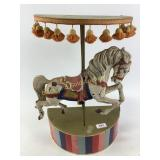 Carousel horse in stand