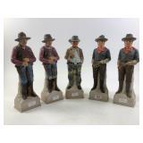 1969 Lionsrone Sculptured Porcelain cowboys