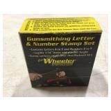 Wheeler Letter/# Stamping Set