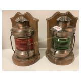 Railroad Lantern Bookends