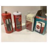 Coca-Cola Napkin Dispenser & Canisters