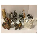 Cat Candles/Wood Cats/Metal Cat Candle Holders