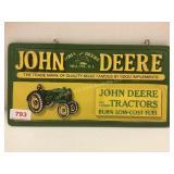 John Deere Double Sided Plaque