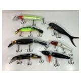Large Crank-Bait Fishing Lure Lot