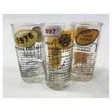 MIzzou Tigers football glasses