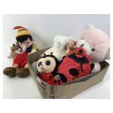 Pink stuffed bear & more