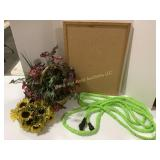 Sunflower & Flexible Garden Hose