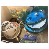 Mixed glass items & treasures