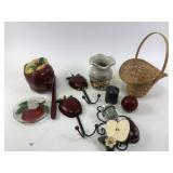 Apple dishes & candle holders