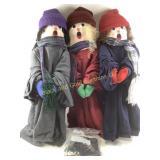 Christmas stuffed carolers