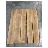 5 Wild Cherry live edge and square edge boards