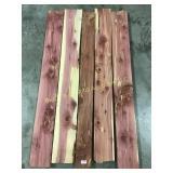 5 square edge red cedar boards