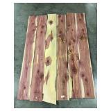 6 square cut red cedar boards