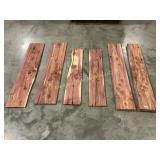 6 square edge red cedar boards