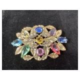 Vintage brooch with stones