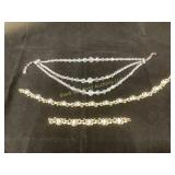 Crystal bead necklace & necklace set