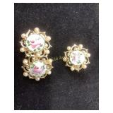 Vintage 1950 Rose Guilloche jewelry