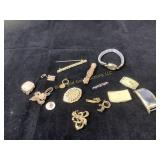 Gold plated vintage items