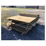 14 sections of 6 foot privacy fence