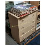 Blond 4 drawer chest of drawers