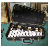 Vintage xylophone in case