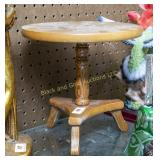 "9"" tall miniature wooden table"