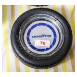 Goodyear tire glass advertising ashtray