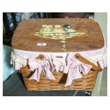 Woven two handled picnic baskets