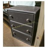 Small painted 3 drawer chest of drawers