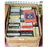 Box of 8-track tapes
