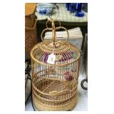 "18"" tall wooden decorative bird cage"