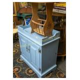 Dry sink, painted blue