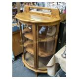 Oak triple curved glass china cabinet.