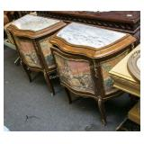 Pr marble top night stands