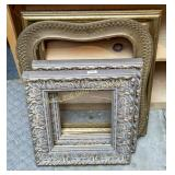 4 vintage wood and gilt picture frames