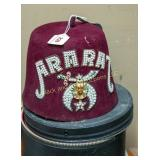 Shriners/Masonic hat with box