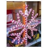 "Pink ""string"" lighted snowflake decoration"