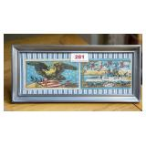Framed Army and Navy needle book