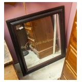 "Framed 28"" by 32"" wall mirror"